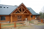 Custom Log Cabin Lake Home with Views